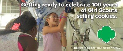 100 Years of Girl Scouts selling cookies